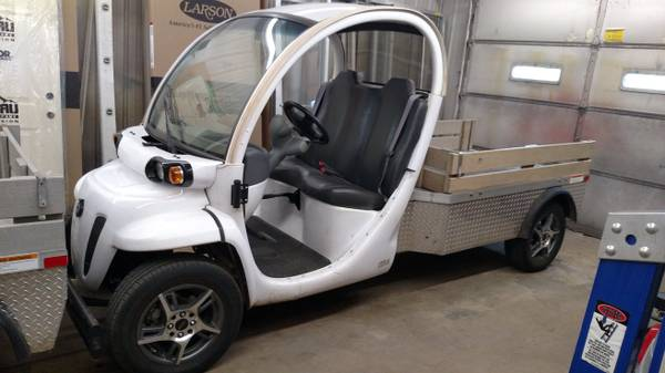 2009 Gem El Electric Vehicle Truck With Rims 8506 Miles By Chrysler Has 5hp Motor Doors Full Cab 14 Aluminum Newer Tires